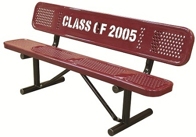 Personalized Multicolor Perforated Standard Bench